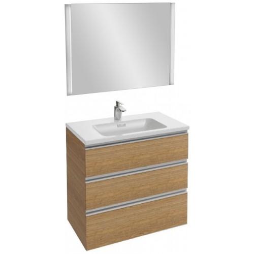 Мебель для ванной Jacob Delafon Vox 80 подвесная с 3-мя ящиками ореховое дерево