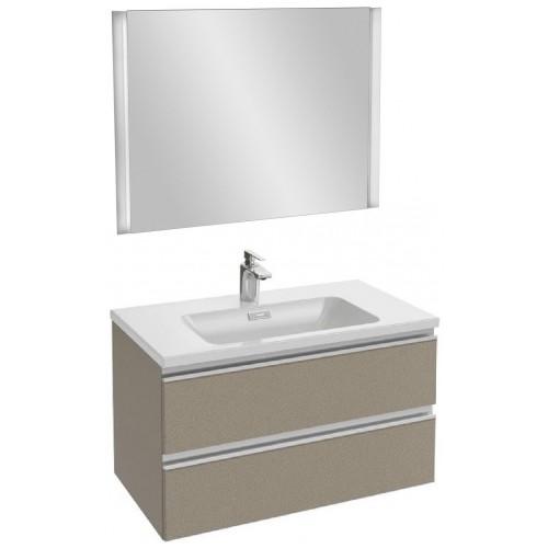 Мебель для ванной Jacob Delafon Vox 80 подвесная серая кожа