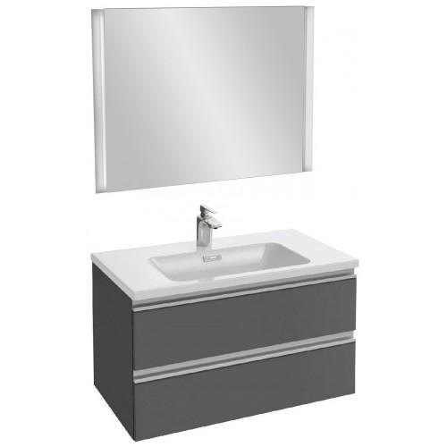 Мебель для ванной Jacob Delafon Vox 80 подвесная серый антрацит глянцевый