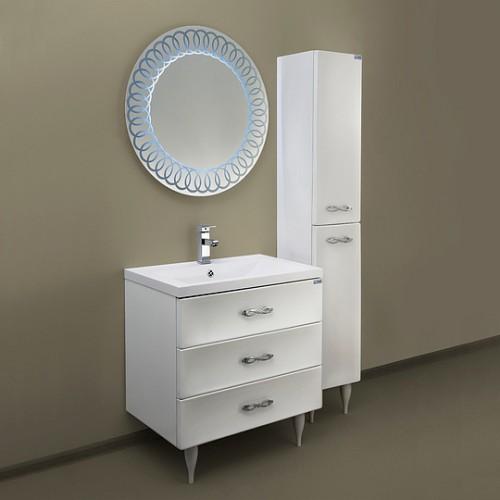 Мебель для ванной Marka One Belle 75Н Spirale White