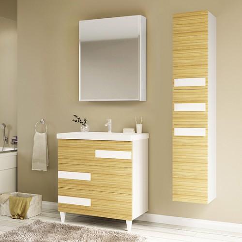 Мебель для ванной Marka One Mix 60Н ПП с 3 ящиками, коко боло