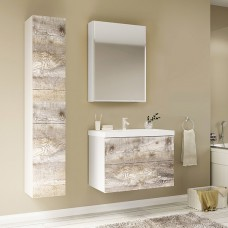 Мебель для ванной Marka One Mix 60П с 2 ящиками, бетон, push