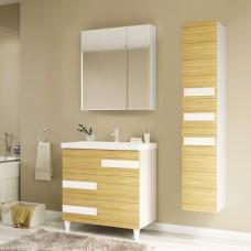 Мебель для ванной Marka One Mix 70Н ПП с 3 ящиками, коко боло