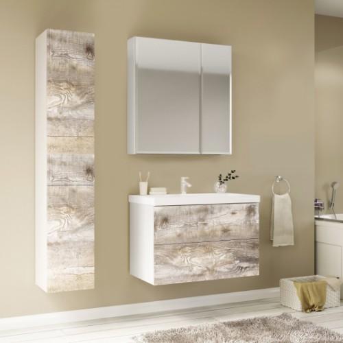 Мебель для ванной Marka One Mix 70П с 2 ящиками, бетон, push