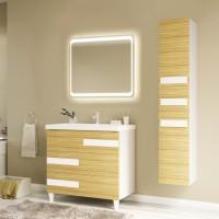 Мебель для ванной Marka One Mix 80Н ПП с 3 ящиками, коко боло