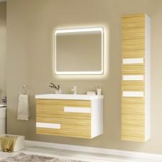Мебель для ванной Marka One Mix 80П ПП с 2 ящиками, коко боло