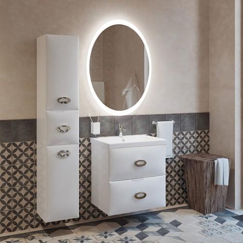 Мебель для ванной Marka One Ovale 60П White