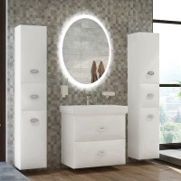 Мебель для ванной Marka One Ovale 70П White