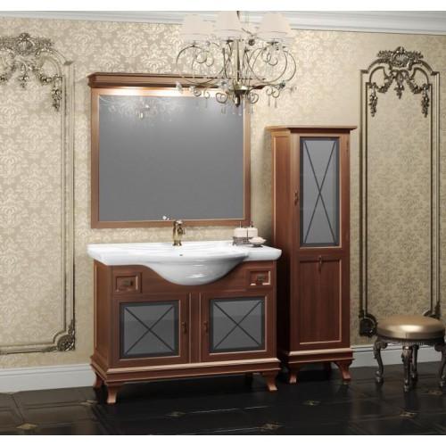 Мебель для ванной Opadiris Борджи 105 напольная темное дерево