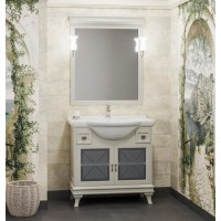 Мебель для ванной Opadiris Борджи 90 напольная слоновая кость