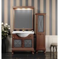 Мебель для ванной Opadiris Борджи 90 напольная темное дерево
