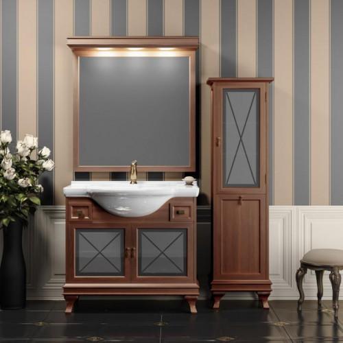 Мебель для ванной Opadiris Борджи 95 напольная темное дерево