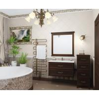 Мебель для ванной Opadiris Гарда 90 подвесная красное дерево