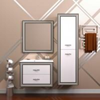 Мебель для ванной Opadiris Карат 80 подвесная серебро