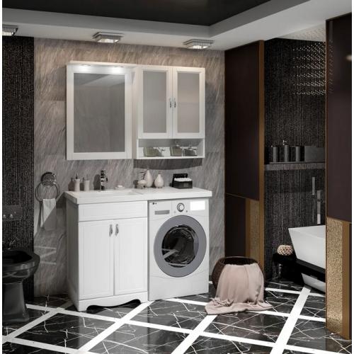 Мебель для ванной Opadiris Клио 120 напольная белая левая