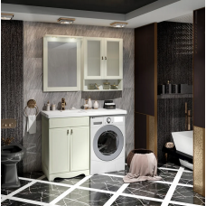 Мебель для ванной Opadiris Клио 120 напольная слоновая кость левая