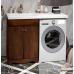 Мебель для ванной Opadiris Клио 120 напольная темное дерево левая