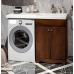 Мебель для ванной Opadiris Клио 120 напольная темное дерево правая