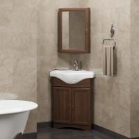 Мебель для ванной Opadiris Клио 45 напольная темное дерево левая