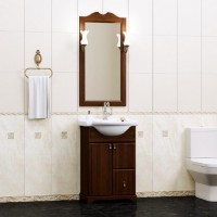 Мебель для ванной Opadiris Клио 55 напольная темное дерево