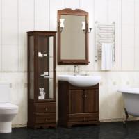 Мебель для ванной Opadiris Клио 65 напольная темное дерево