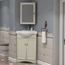 Мебель для ванной Opadiris Клио 65 напольная угловая слоновая кость левая