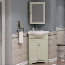 Мебель для ванной Opadiris Клио 65 напольная угловая слоновая кость правая