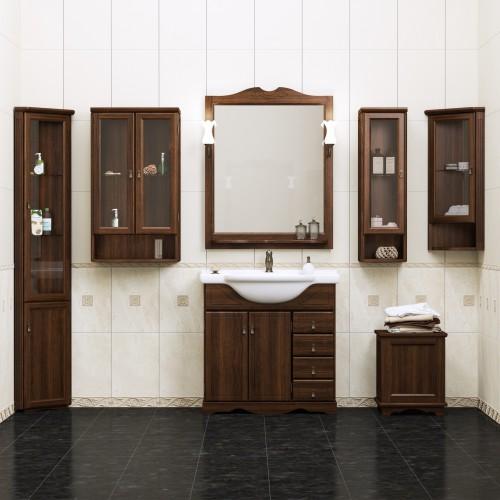 Мебель для ванной Opadiris Клио 80 напольная темное дерево