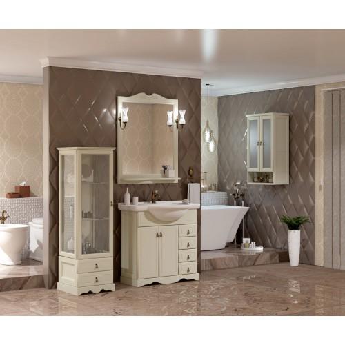 Мебель для ванной Opadiris Клио 90 напольная слоновая кость