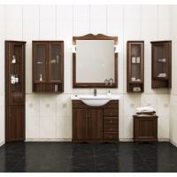 Мебель для ванной Opadiris Клио 90 напольная темное дерево