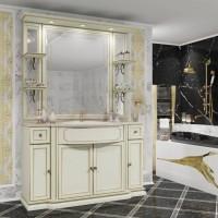 Мебель для ванной Opadiris Корсо Оро 135 напольная слоновая кость