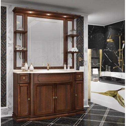 Мебель для ванной Opadiris Корсо Оро 135 напольная темное дерево