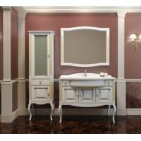 Мебель для ванной Opadiris Лаура 120 напольная белая с патиной