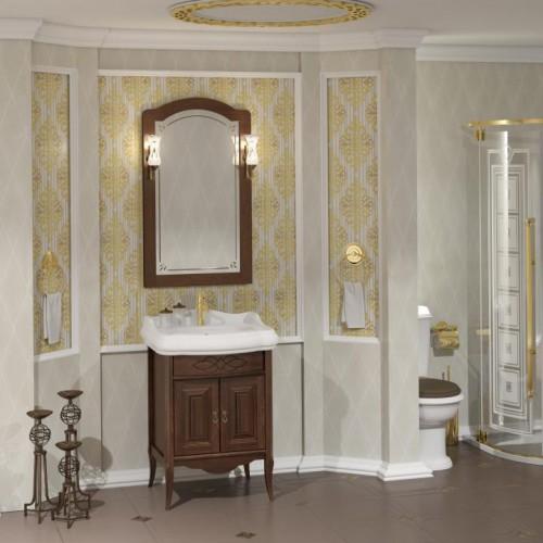 Мебель для ванной Opadiris Лоренцо 60 напольная темное дерево