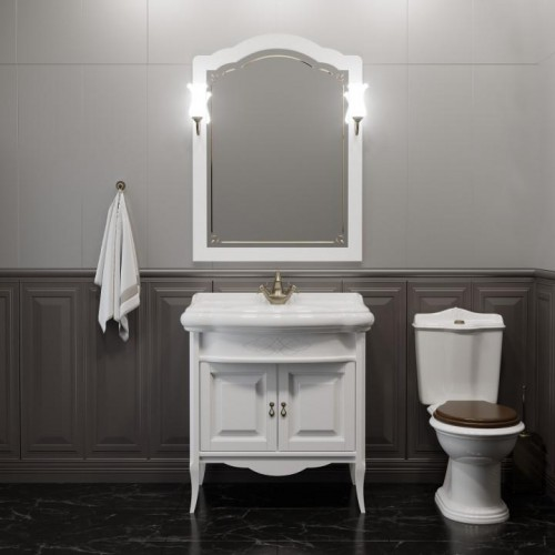 Мебель для ванной Opadiris Лоренцо 80 напольная белая