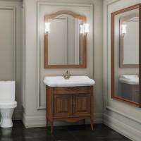 Мебель для ванной Opadiris Лоренцо 80 напольная темное дерево