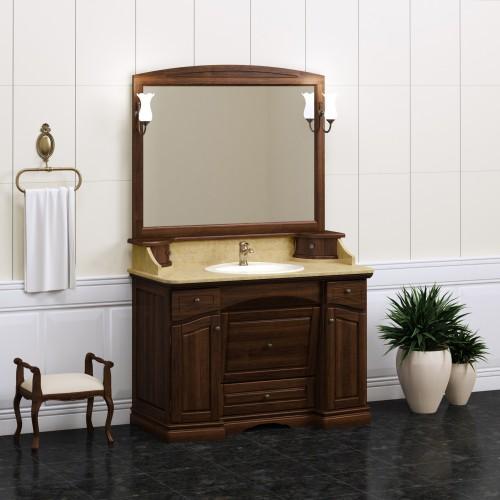 Мебель для ванной Opadiris Лучия 125 напольная темное дерево