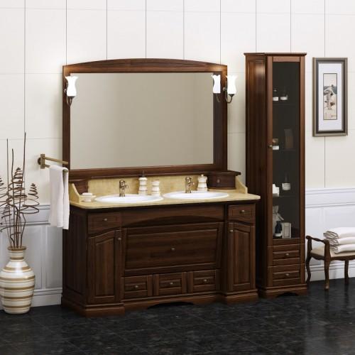 Мебель для ванной Opadiris Лучия 155 напольная темное дерево