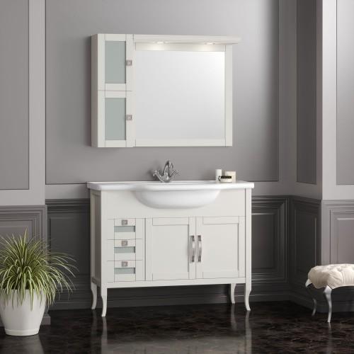 Мебель для ванной Opadiris Мираж 100 напольная слоновая кость