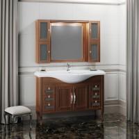 Мебель для ванной Opadiris Мираж 120 напольная темное дерево