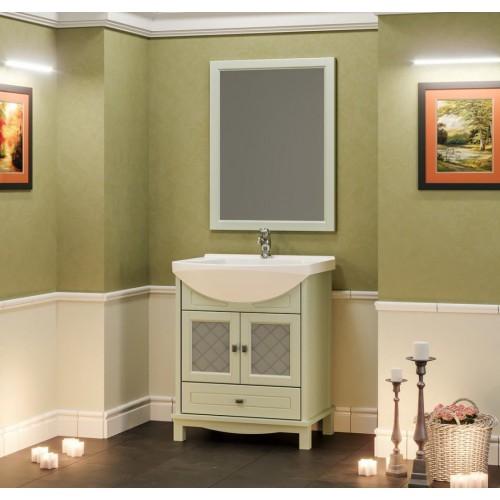 Мебель для ванной Opadiris Омега 75 напольная зеленая