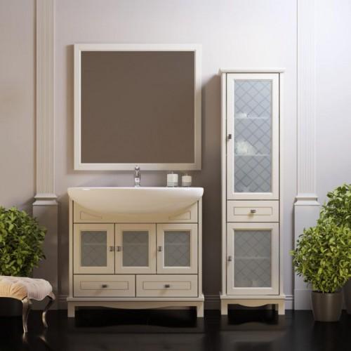 Мебель для ванной Opadiris Омега 90 напольная cлоновая кость