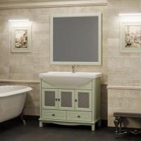 Мебель для ванной Opadiris Омега 90 напольная зеленая