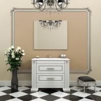 Мебель для ванной Opadiris Оникс 105 напольная серебро