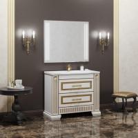 Мебель для ванной Opadiris Оникс 105 напольная золото