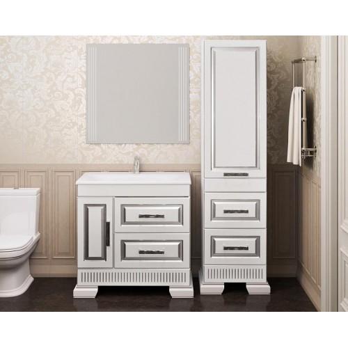 Мебель для ванной Opadiris Оникс 85 напольная серебро