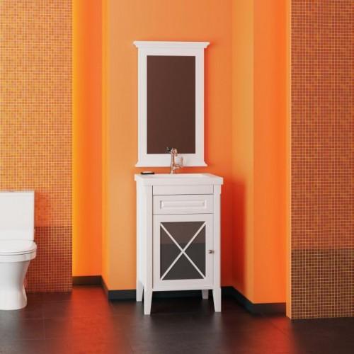 Мебель для ванной Opadiris Палермо 50 напольная белая левая