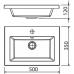 Мебель для ванной Opadiris Палермо 50 напольная темное дерево левая
