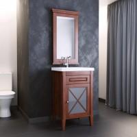 Мебель для ванной Opadiris Палермо 50 напольная темное дерево правая