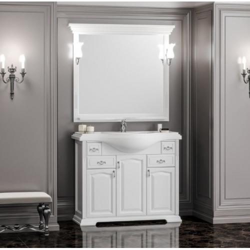 Мебель для ванной Opadiris Риспекто 105 напольная белая Дрея